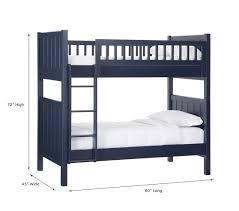 bunk bed measurements twin bunk bed measurements c over pottery barn kids 16 diy beds
