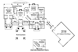 Floor Plans With Porte Cochere Contemporary House Plans Argent 30 122 Associated Designs