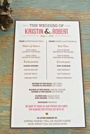 wedding programs rustic rustic wedding program ceremony program printable files