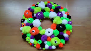 how to make a halloween pompom wreath essex baby