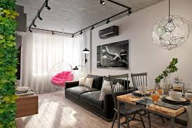 the apartment is 50 sq m in the style of eclecticism daria elnikova