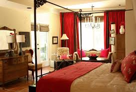 master bedroom modern red and white elegant master bedroom