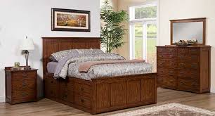 colorado medium oak queen size storage bed by winners only