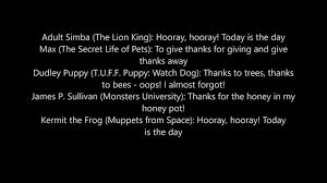 the script for hooray hooray thecartoonman12 version happy