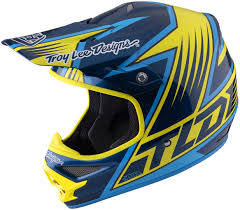 yellow motocross helmet troy lee designs air vengeance yellow blue motocross helmets troy