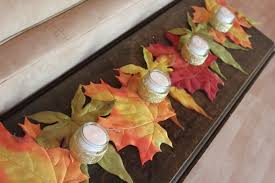Leaf Table Runner Quick And Easy Autumn Table Runner Delicate Construction