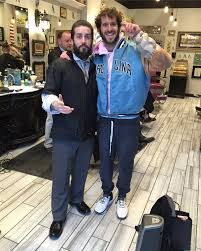 lil dicky stopping by for a haircut with lawrence yelp