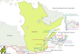 Appalachian Mountains Canada Map by Hiking Map Quebec Gif