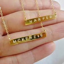 personalized name plate necklaces personalized jewelry popsugar