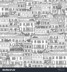 hand drawn seamless pattern italian style stock vector 411041725