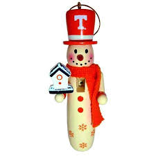 buy 6 ncaa of tennessee volunteers wooden snowman