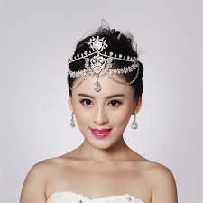 sparkly hair aliexpress buy fashion sparkly bridal chain