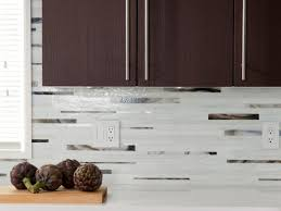 small kitchen design and decoration using white brown glass tile modern kitchen decoration using dark brown wooden laminate kitchen cabinet including white granite