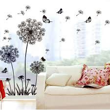 amazon com ussore vinyl art decal cartoon owl butterfly wall ussore wall sticker dandelion butterfly stickers removable mural pvc creative home decor removable for kids home