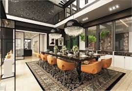 Kitchen With Dining Room Designs Dining Rooms That Mix Classic And Ultra Modern Decor