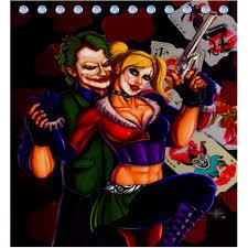 Harley Shower Curtain Shower Curtain Harley Quinn Joker Sku 411886