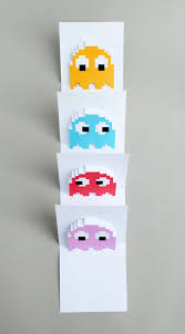 pacman ghost popup cards popup free printable and cards