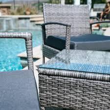 Wicker Patio Furniture Los Angeles - 3pc rattan wicker bistro sofa set coffee table chair outdoor patio