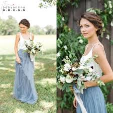 Light Gray Bridesmaid Dress Blue Gray Bridesmaid Dresses Fashion Dresses