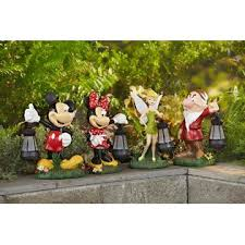 disney statue with solar lantern tinkerbell outdoor living