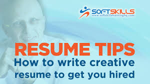 How To Write A Resume That Will Get You Hired Resume Tips How To Write Creative Resume To Get You Hired Youtube