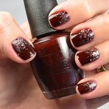 nail tutorial glitter gradient maroon and gold youtube