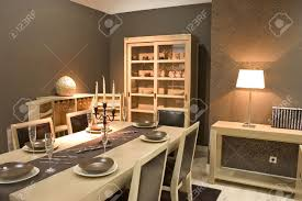 Luxury Dining Rooms Luxury Dining Room And Dinig Table With Glasses Dishes And