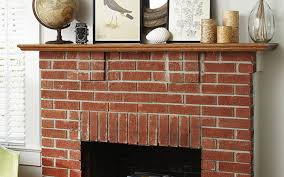 clean red brick fireplace stovers