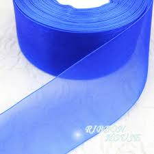 royal blue ribbon 2 50mm royal blue organza ribbons wholesale gift wrapping