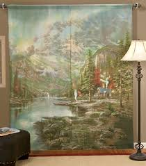 amazon com thomas kinkade mountain majesty window art curtain