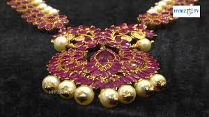 red stone gold necklace images Ruby stone jewellery long haram malabar gold and diamonds jpg