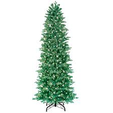 shop ge 7 5 ft pre lit fir artificial tree with white