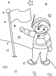astronaut coloring page astronaut coloring page stock illustration image 49892367