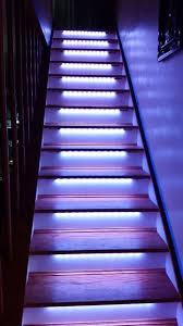 led neopixel motion sensor stair lighting 6 steps