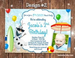 frozen disney olaf summer custom printable birthday photo