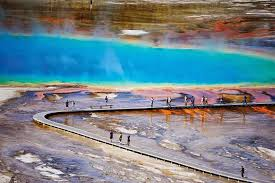 grand prismatic spring yellowstone national park wyoming united