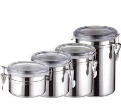 stainless steel canisters kitchen sale 4 sizes coffee tea sugar storage tanks sealed cans