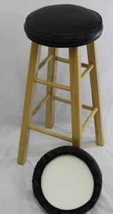 Bar Chair Covers Bar Stool Covers Round Replacement Chair Seat Black Set Of 2 Foam
