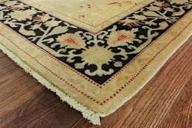 6x9 Wool Area Rugs Authentic Peshawar Chobi Quality 6x9 Gold Black Knotted Wool