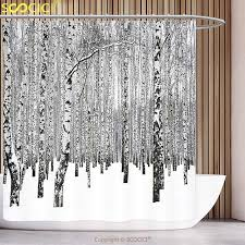 Unique Shower Curtains Unique Shower Curtain Winter Decorations Winter Birch Grove In