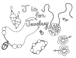 jewelry coloring pages getcoloringpages com