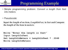 Feet In Meter Programming Fundamentals Ppt Download