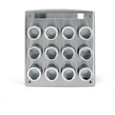 Flat Spice Rack Kamenstein 12 Can Stainless Steel Magnetic Spice Rack Walmart Com