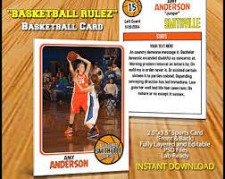 psd basketball trading card template
