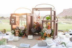 rustic wood wedding centerpiece