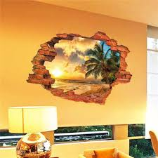 home design 3d remove wall 3d broken wall sunset scenery seascape island coconut trees