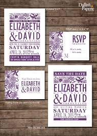 Wedding Invitations And Rsvp Cards Cheap Damask Purple Flower Wedding Invitation Rsvp Thank Your Card Save