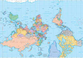 World Map Poster Large Popular 189 List Upside Down Map