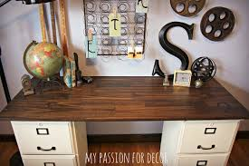 Diy File Cabinet Desk My For Decor My Pottery Barn Desk Hack