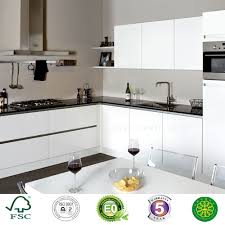 Flat Packed Kitchen Cabinets L Type Flat Pack Modern White Lacquer Fitted Kitchen Cabinet Buy